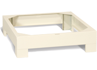 Base unit for microscope slide cabinets that store micro slides.