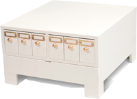 Model SS-100 Microscope Slide Cabinet for micro slides.